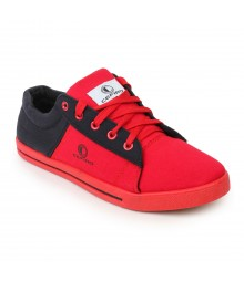 Cefiro Men Casual Shoes Fun07 Red Black CCS0033